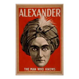 Vintage Alexander Psychic Magician Poster