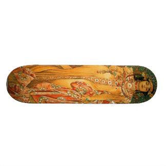 Vintage Alfons M. Mucha Skate Decks