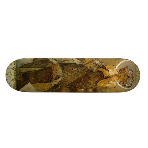 Vintage Alfons M. Mucha Skate Board Decks
