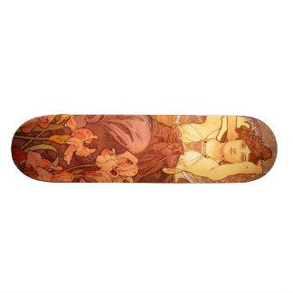 Vintage Alfons M. Mucha Skateboards