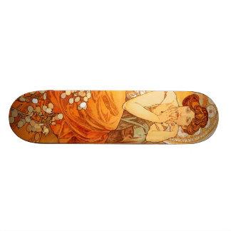 Vintage Alfons M. Mucha Custom Skateboard
