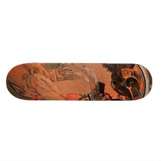 Vintage Alfons M. Mucha Skateboard