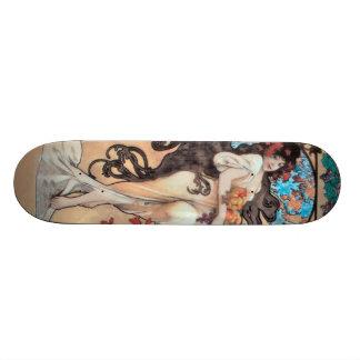 Vintage Alfons M. Mucha Skateboard Decks