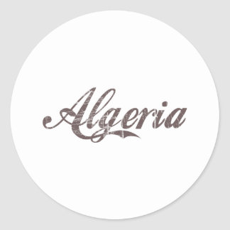 Vintage Algeria Classic Round Sticker