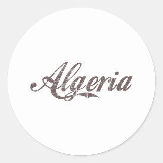 Vintage Algeria Round Sticker