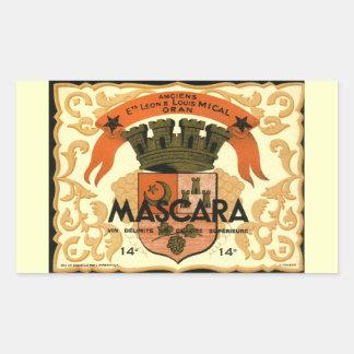 Vintage Algerian Wine label,  Mascara Sticker