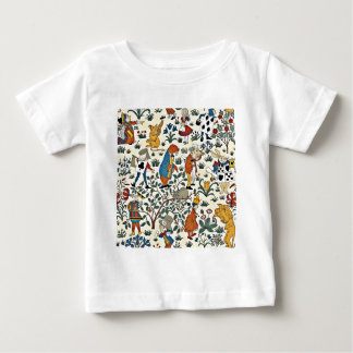 Vintage Alice and Friends Fabric Pattern Baby T-Shirt