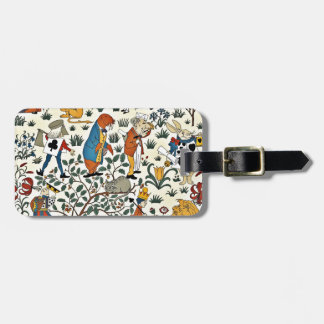 Vintage Alice and Friends Fabric Pattern Bag Tag