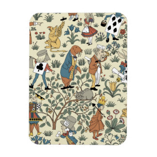 Vintage Alice and Friends Fabric Pattern Rectangular Photo Magnet