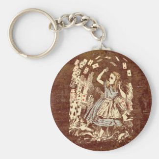 Vintage Alice Flying Cards Keychain