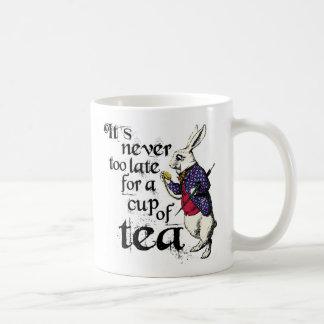 Vintage Alice in The Wonderland Rabbit Coffee Mug