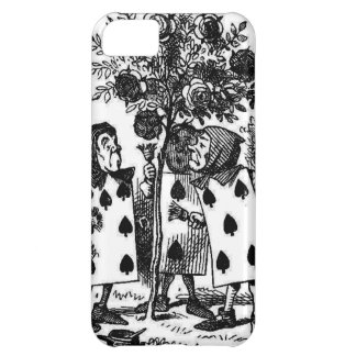 Vintage Alice in Wonderalnd Cards Painting Roses Cover For iPhone 5C