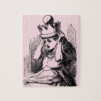 Vintage Alice in Wonderland, Alice as the Queen Jigsaw Puzzle