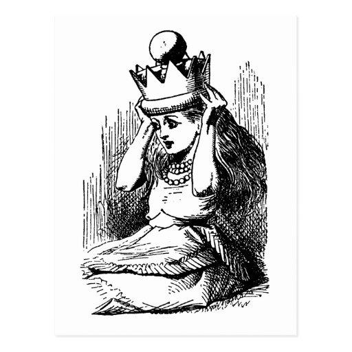Vintage Alice in Wonderland; Alice as the Queen Postcards