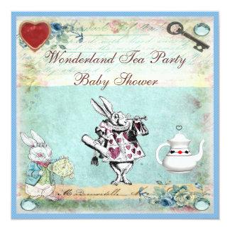Vintage Alice in Wonderland Baby Shower Tea Party Card