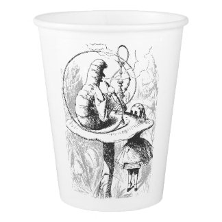 Vintage Alice In Wonderland Caterpillar Paper Cups