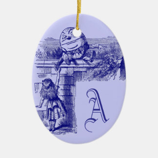 Vintage Alice in Wonderland Ceramic Ornament