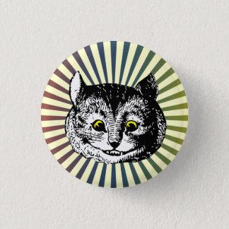 Vintage Alice in Wonderland Cheshire Cat Art Badge 1 Inch Round Button