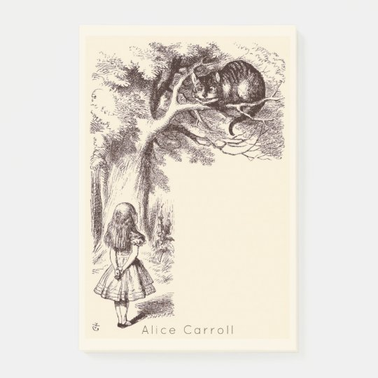 Vintage Alice in Wonderland | Cheshire Cat Grin Post-it Notes