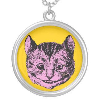Vintage Alice in Wonderland Cheshire Cat Pendant