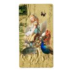 Vintage Alice in Wonderland collage Shipping Label