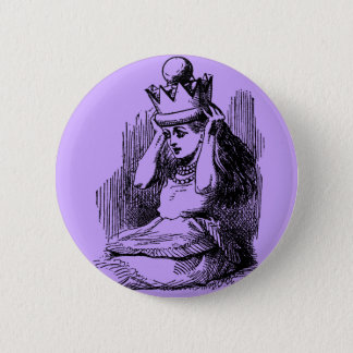 Vintage Alice in Wonderland & Crown 2 Inch Round Button