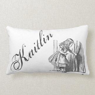 Vintage Alice in Wonderland custom name antique Lumbar Pillow