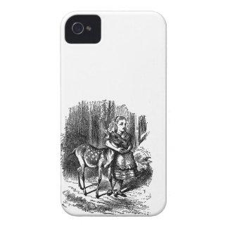 Vintage Alice in Wonderland deer fawn bambi print iPhone 4 Cover