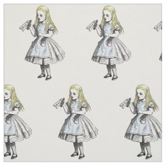 Vintage Alice in Wonderland Drink Me Fabric