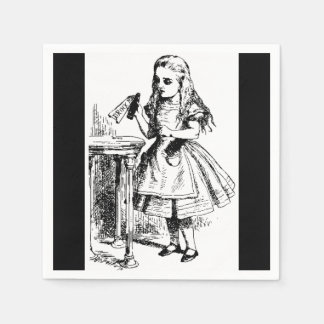Vintage Alice in Wonderland Drink Me Paper Napkins