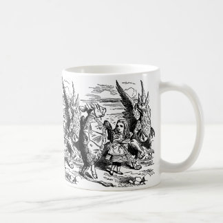 Vintage Alice in Wonderland, Gryphon, Mock Turtle Coffee Mug