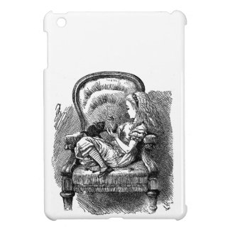 Vintage Alice in Wonderland in chair book drawing Case For The iPad Mini