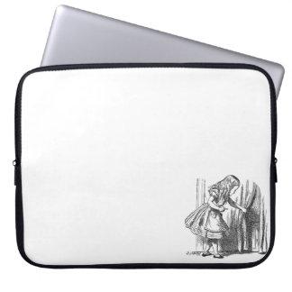 Vintage Alice in Wonderland looking for the door Laptop Sleeve
