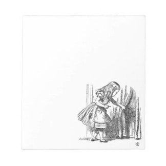 Vintage Alice in Wonderland looking for the door Notepad