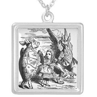 Vintage Alice in Wonderland, Mock Turtle, Gryphon Necklaces