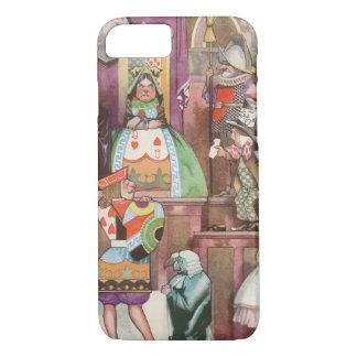 Vintage Alice in Wonderland, Queen of Hearts iPhone 8/7 Case