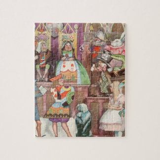 Vintage Alice in Wonderland, Queen of Hearts Jigsaw Puzzle