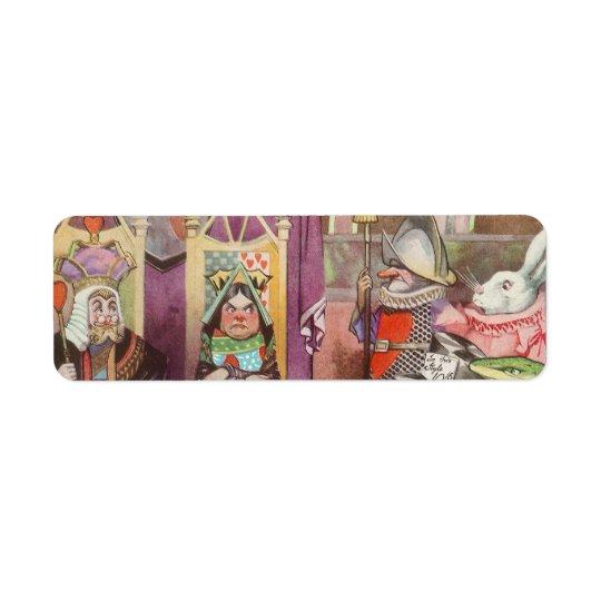 Vintage Alice in Wonderland, Queen of Hearts Return Address Label