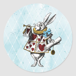 Vintage Alice in Wonderland Rabbit Classic Round Sticker