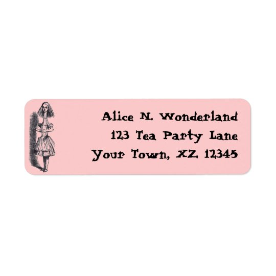 Vintage Alice in Wonderland Return Address Label
