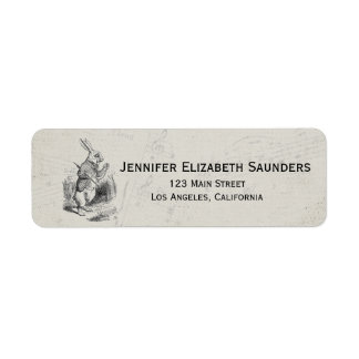 Vintage Alice in Wonderland Return Address Labels