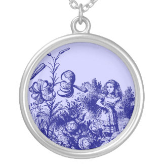 Vintage Alice in Wonderland Silver Plated Necklace