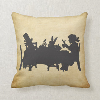 Vintage Alice in Wonderland Tea Party Cushion