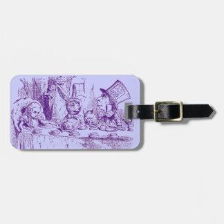 Vintage Alice in Wonderland Tea Party Luggage Tag