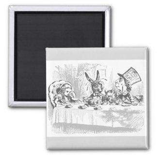 Vintage Alice in Wonderland Tea Party Magnet