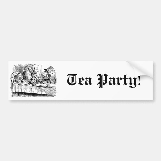 Vintage Alice in Wonderland, Tea Party Scene Bumper Sticker