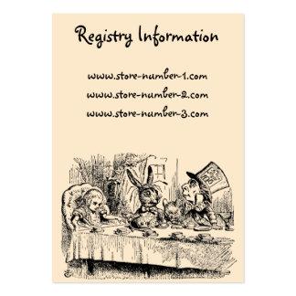 Vintage Alice in Wonderland, Tea Party Scene Large Business Card