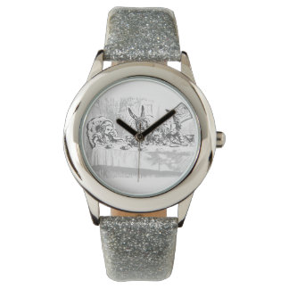 Vintage Alice in Wonderland Tea Party Watch