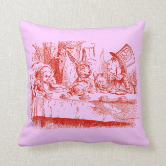 Vintage Alice in Wonderland Throw Pillow