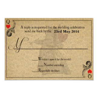 Vintage Alice in Wonderland Wedding RSVP Card